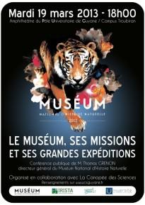 AFFICHE_MUSEUM_HISTOIRE_NATURELLE_CONFERENCE_GUYANE