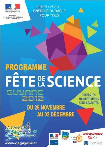 Fête de la science 2012, demandez le programme