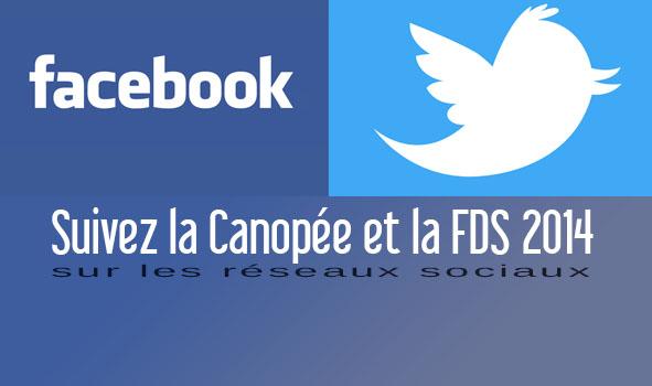 La Canopée sur Facebook et Twitter