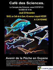 Affiche Café des Sciences avenir de la pêche en Guyane