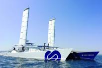 Le catamaran à hydrogène «Energy Observer » en escale en Guyane